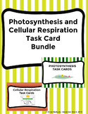 Photosynthesis and Cellular Respiration Task Card BUNDLE