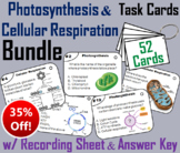 Photosynthesis and Cellular Respiration Task Cards Bundle