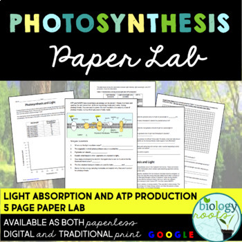 Photosynthesis Lab - Light Absorption and ATP