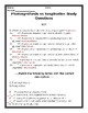 Photosynthesis vs Cellular Respiration Study Questions
