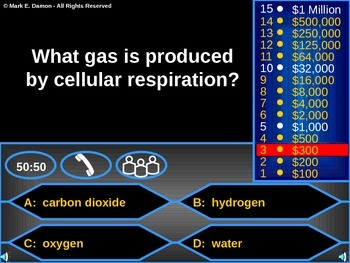 Photosynthesis/Cellular Respiration Review Game