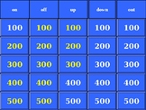 Phrasal Verb Jeopardy