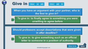 Phrasal Verb Question Discussion Practice