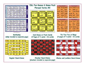 Phrasal Verbs #2 6 Board Game Bundle