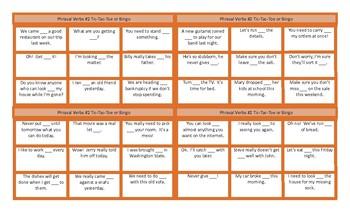 Phrasal Verbs 2 Tic-Tac-Toe or Bingo