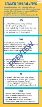 Phrasal Verbs A2 Pre-Intermediate Lesson Plan For ESL