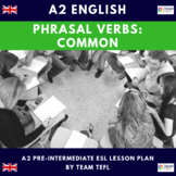 Phrasal Verbs A2 Pre-Intermediate Lesson Plan For ESL