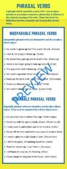 Phrasal Verbs C1 Advanced Lesson Plan For ESL