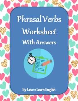 Phrasal Verbs - ESL Worksheet