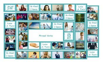 Phrasal Verbs Legal Size Photo Board Game