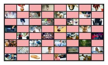 Phrasal Verbs Legal Size Photo Checkers Game