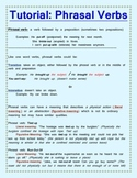 Phrasal Verbs- Tutorial and Activities