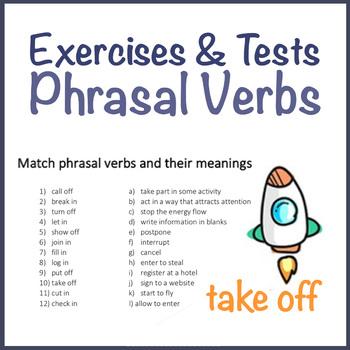 Phrasal Verbs Worksheets, Exercises and Tests ESL by Enlos English