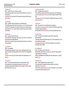 Phrasal Verbs for Visual Learners part 1 (ELL, EFL, ESL)