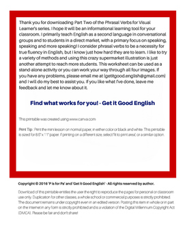 Phrasal Verbs for Visual Learners part 2 (ELL, EFL, ESL)
