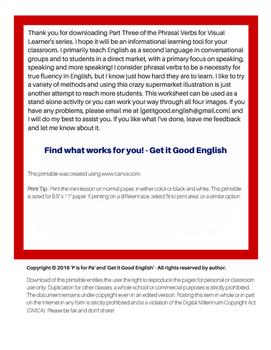 Phrasal Verbs for Visual Learners part 3 (ELL, EFL, ESL)
