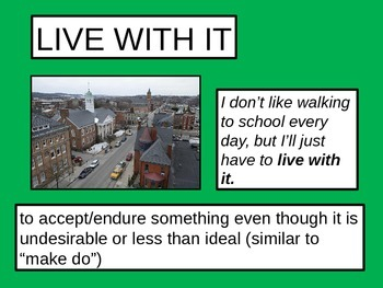 """Phrasal Verbs: """"live"""" and """"give"""" POWERPOINT (FREEBIE)"""