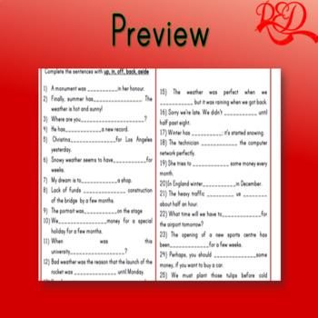 Phrasal Verbs with Set