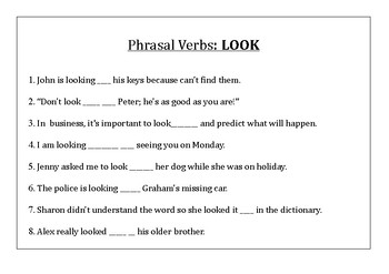 Phrasal Verbs with the verb LOOK