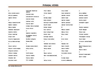 Phrasal verbs in Science