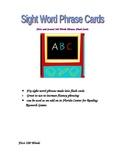 Phrase Flash Cards