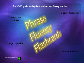 Phrase Fluency Flashcards with Instructions- Set 1