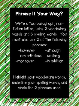 Phrase It Your Way Work Work Prompt