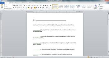 Phrase Worksheet