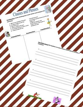 Phrase and Clause Sort Worksheet