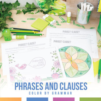 Phrase or Clause Coloring Sheet