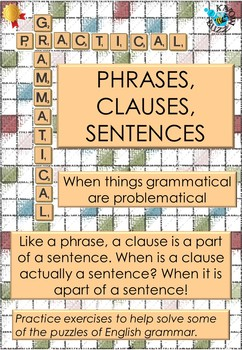 Phrases Clauses And Sentences Worksheet By The Know Buzz Tpt