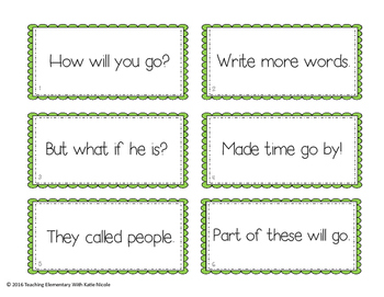 Reading Fluency Practice: 1st 100 Fry Words: Flash cards, activity sheets...