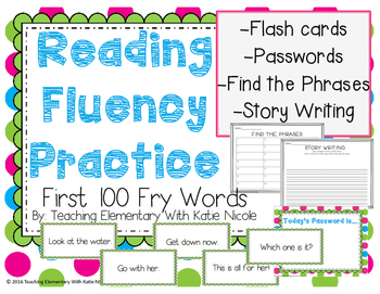 Reading Fluency Practice: 1st 100 Sight Words
