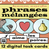 Phrases Mélangées French BOOM Cards for Distance Learning
