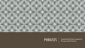 Phrases PPT (prepositional, appositive, gerund, participia
