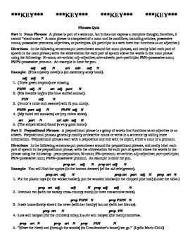 Phrases Quiz