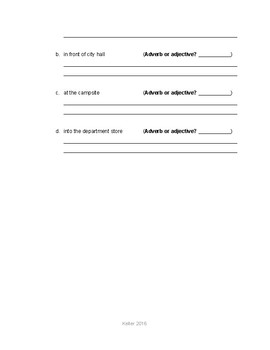 Phrases Test (Phrases, Prepositional, Adjective, Adverb) STUDY GUIDE