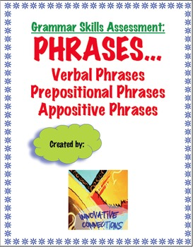 Phrases Test and  Key: Verbals, Prepositional, and Appositive Phrases
