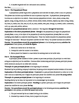 Phrases Worksheets