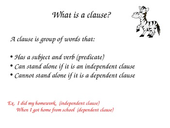 Phrases and Clauses