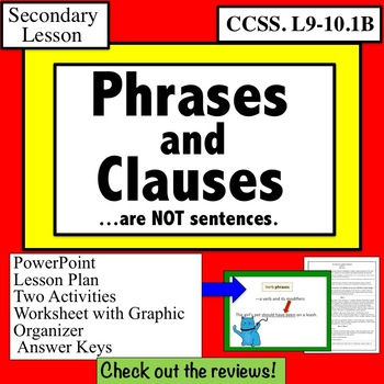 Phrase Clause Phrases and Clauses