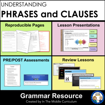 Phrases and Clauses: A  Middle School Grammar Resource