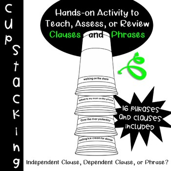 Phrases and Clauses: Cup Stacking Competition