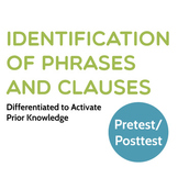 Grammar: Identification of Phrases and Clauses Differentiated Pretest/Posttest