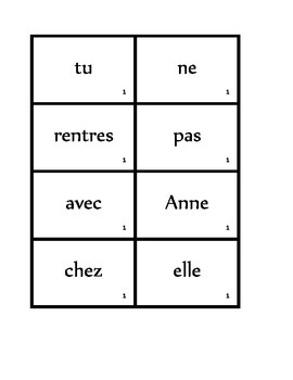 Phrases brouillées (Scrambled sentences in French) activity