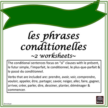 "Phrases conditionnelles – Conditional sentences – ""Si"" Clauses exercises #2"