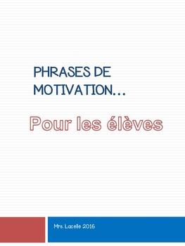 Phrases de motivation pour les élèves