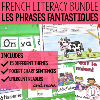 Phrases fantastiques - THE BUNDLE (French Pocket Chart Sentences Bundle)