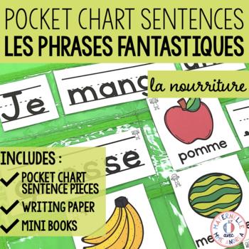 Phrases fantastiques - Je mange! (FRENCH Food Pocket Chart Sentences)