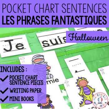 Phrases fantastiques - L'Halloween (FRENCH Halloween Pocket Chart Sentences)